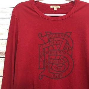 Men's Burberry London Graphic Long Sleeve Shirt L
